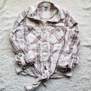 Charlotte Russe Button Up Top